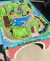 Thomas the Train Table with tracks and trains included