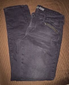 "Ladies, ""Old Navy"" black denim jeans (Rockstar). Size 12 Reg"