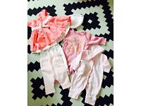 Baby Girl's Pink Bundle of clothes aged 0-3 months