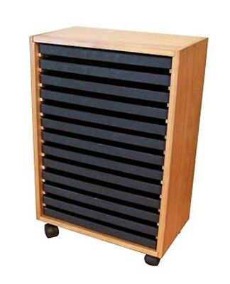 WOODEN STORAGE CABINET FOR 13 STANDARD JEWELER TRAYS