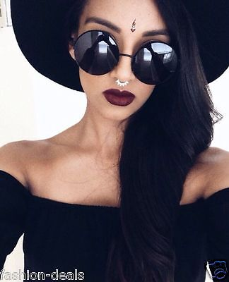 OVERSIZED Vintage Retro Boho Bohemian Hippie Round Circle Women Sunglasses SHADZ