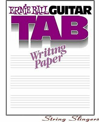 Ernie Ball Writing Paper Book - Guitar Tab/Tablature 7021