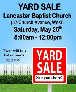 LARGE Yard & Bake Sale