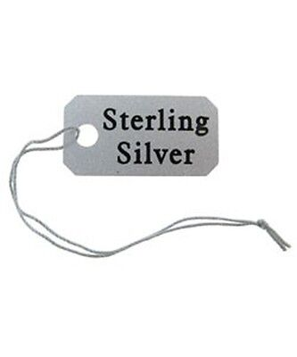 500 String Jewelry Tags Imprinted Sterling Silver