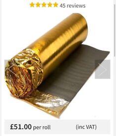 Sonic Gold 5mm Laminate Underlay 2 x 15m2 Rolls