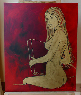 "EAVEN WILLIAMS ""GOLDEN TEMPTRESS"" 80*100cm Bild Gemälde Kunst EW8236"