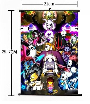 Hot Japan Anime Game Undertale Cosplay Poster Wall Scroll Home Decor 8  12  F887