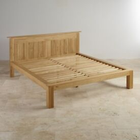 Solid Oak Double Bed Frame.