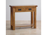 Original Rustic Solid Oak Console Table (good condition)