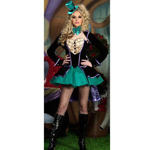 Ladies-Mad-Hatter-Alice-in-Wonderland-Fancy-Dress-Costume-Size-8-10
