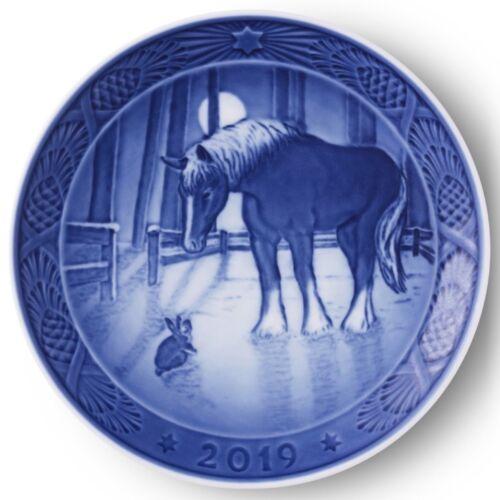 ROYAL COPENHAGEN 2019 Christmas Plate --   New in Box! Horse & Rabbit
