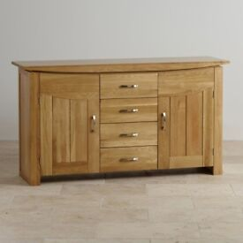 Natural Solid Oak Sideboard from Oak furniture land Tokyo range. Immaculate condition. Sells at £599