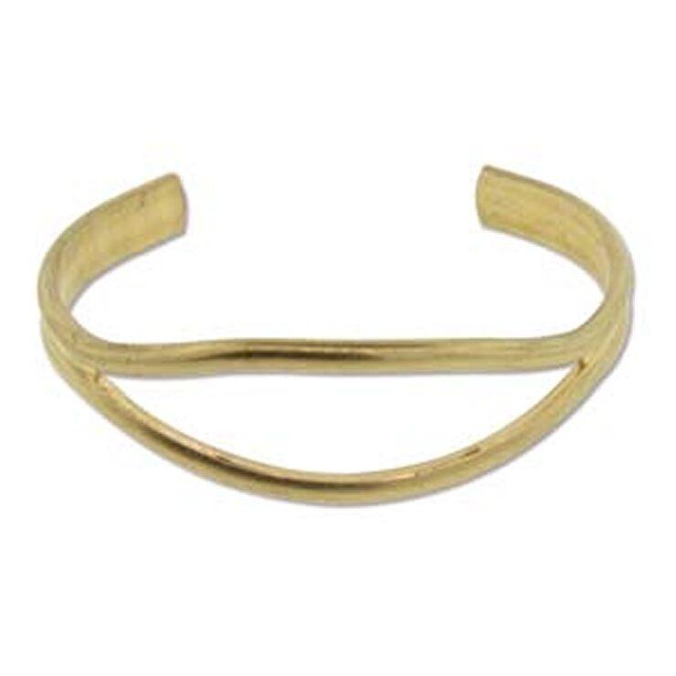 Open Eye Design Brass Bracelet Cuff for Jewelry Making Etc.
