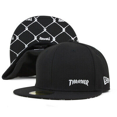 NEW ERA 59 Fifty Cap THRASHER FLAWLESS Black Color From Japan New