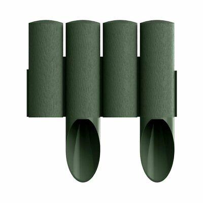 5x Green Palisade Edging Edge Border CELLFAST Standard 2.3m 5boxes 4-stake 255mm
