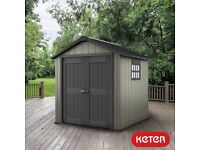 Keter Oakland 757 Outdoor Storage Shed 7.9ft 7.5ft x 7.3ft