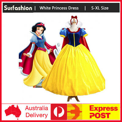 Deluxe Snow White Movie Princess Fairytale Womens Book Week Dress Xmas Costume