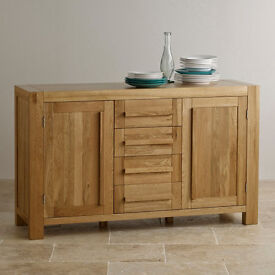 Fresco Natural Solid Oak Large Sideboard