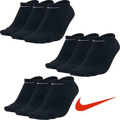 9 Paar NIKE Sneaker Socken schwarz 34-38, 38-42, 42-46, 46-50 9er Pack Füßlinge