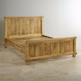 Kingsize bed for sale (solid mango wood from Oak Furnitureland)
