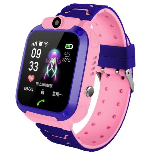 Pink Smart Watch Kind Telefon Uhr Armbanduhr Wasserdicht Tracker Smartwatch