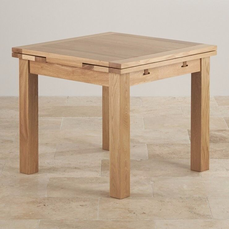 Oak Furniture Land 3ft Square Extendable Dining Table