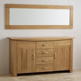 *40% OFF RRP* BRAND NEW / UNOPENED * Contemporary Natural Solid Oak 1800mm x 600mm Wall Mirror