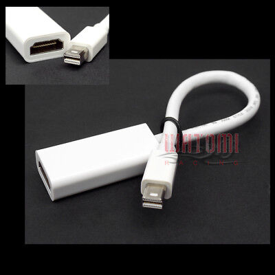 MINI DISPLAYPORT/THUNDERBOLT TO HDMI ADAPTER CABLE FOR MACBOOK AIR PRO MAC IMAC, used for sale  Shipping to India
