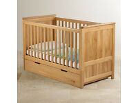 BRAND NEW Bevel cot bed with extras all from Oak Furniture Land
