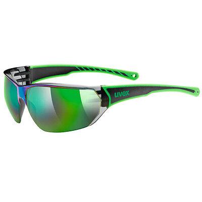 Uvex Fahrradbrille Sportbrille sportstyle 204 black green
