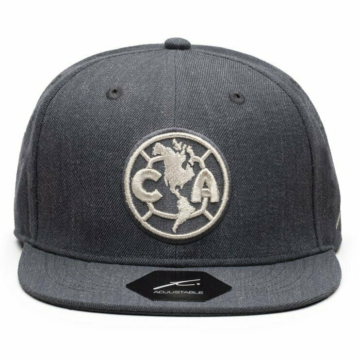 FI Collection Club America Platinum Snapback Hat - Heather Black