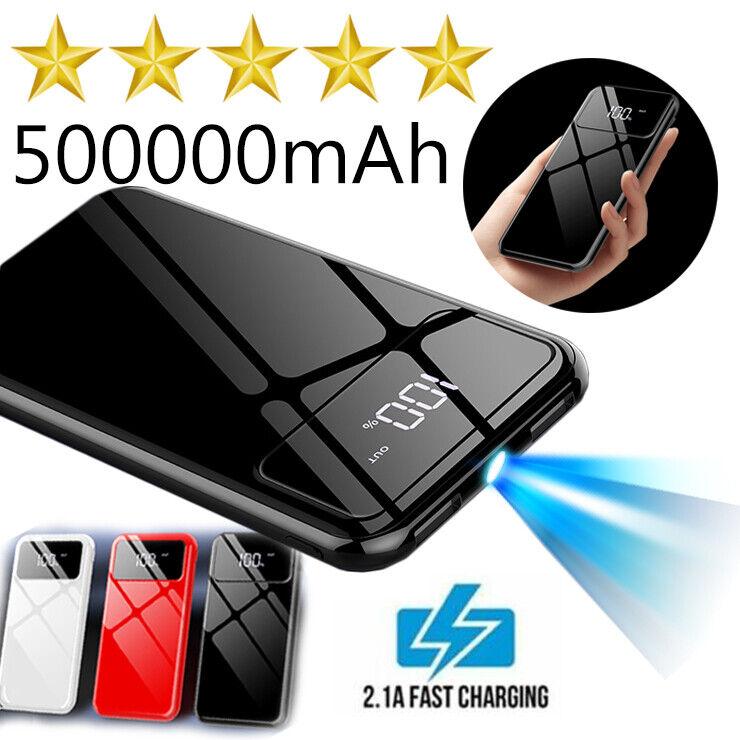 Ultra-thin Portable Power Bank 500000mAh External Battery Ch
