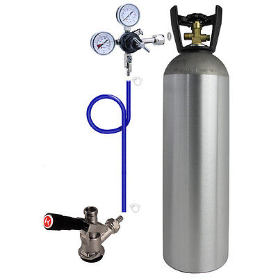 Kegco Direct Draw Kit For Kegerators And Jockey Boxes With 15 Lb. Co2 Tank