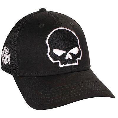 Harley Davidson WILLIE G Black Cotton Blend Baseball Cap HAT