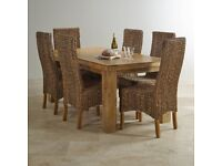 Oak FurnitureLand Dining Room Table and 4 chairs