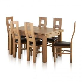 DINING TABLE WITH 8 CHAIRS - ONLY 1 YEAR OLD