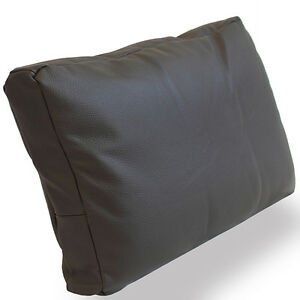 cuir coussin coussins de dos vachette cuir marron d co coussins du canap coussin ebay. Black Bedroom Furniture Sets. Home Design Ideas