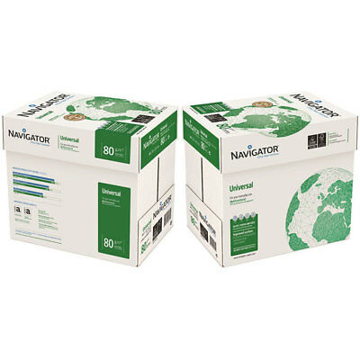 1 Box Navigator A4 80gsm Ultra White A4 Printer Copy Inkjet Paper 5 Reams Box