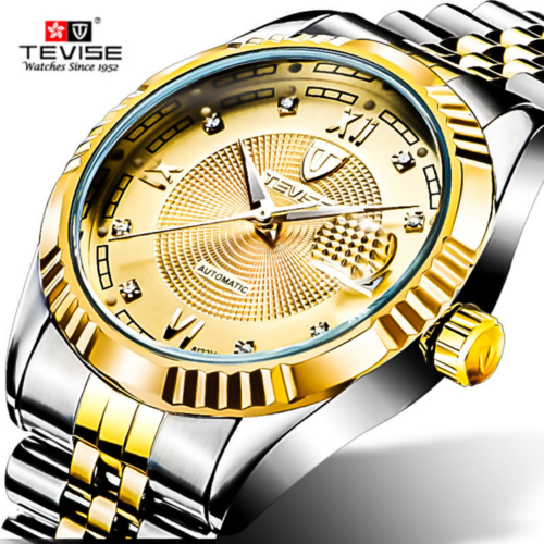 men mechanical watch automatic business waterproof stainless