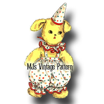Animals In A Suit (Vintage Pattern ~ Puppy in a Clown)