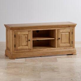 Rustic solid oak cabinet