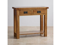Original Rustic Solid Oak Console Table (good condition)