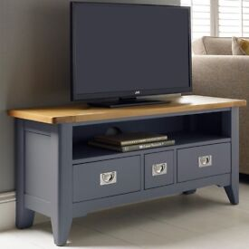 Brand New Bordeaux Painted Taupe TV Stand For TVs Up To 49""