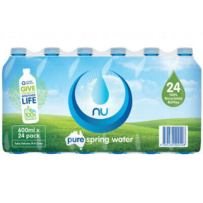 NU Pure Spring Water 600ml X 24 Pack