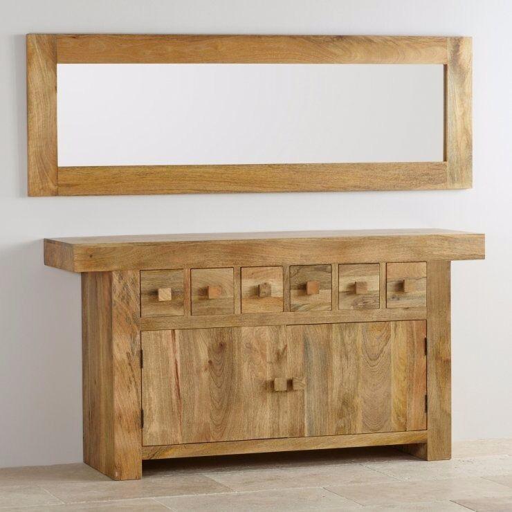 Oak Furniture Land Mango Wood Large Mirror