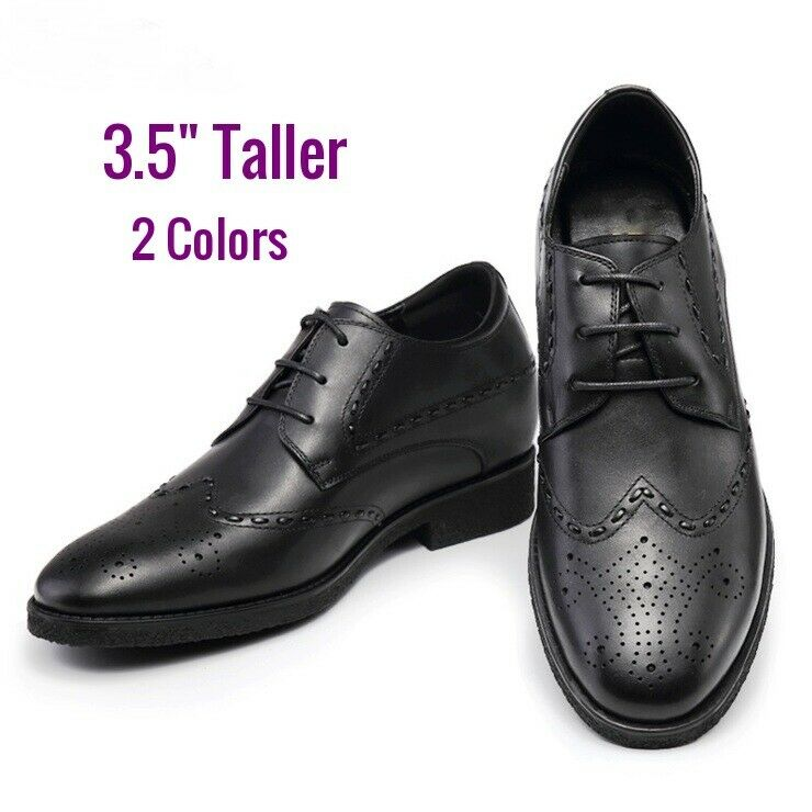 Men 3.5 inches Elevator Height increase Oxford Dress shoes size 9 10 10 11