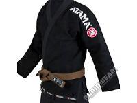 BRAND NEW Atama Mundial BJJ Gi Jacket Only Jiu Jitsu Uniform Kimono Mens A3 Black