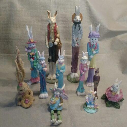 Lot of Rabbit Pencil Figures -  Thin / Tall
