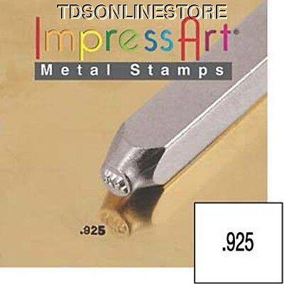 """Metal Design Stamp By Impressart 1.5mm """".925"""" Quality Mark"""