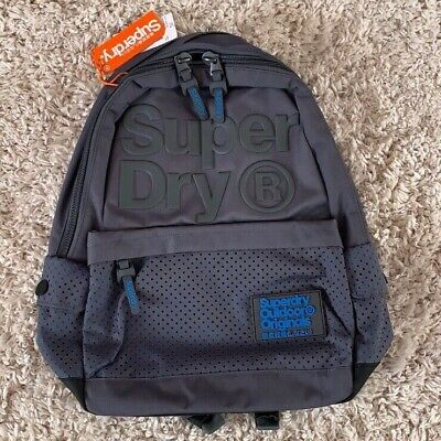 NWT Superdry Backpack BUFF MONTANA Grey and Blue Travel Outdoor Sport Gym Bag